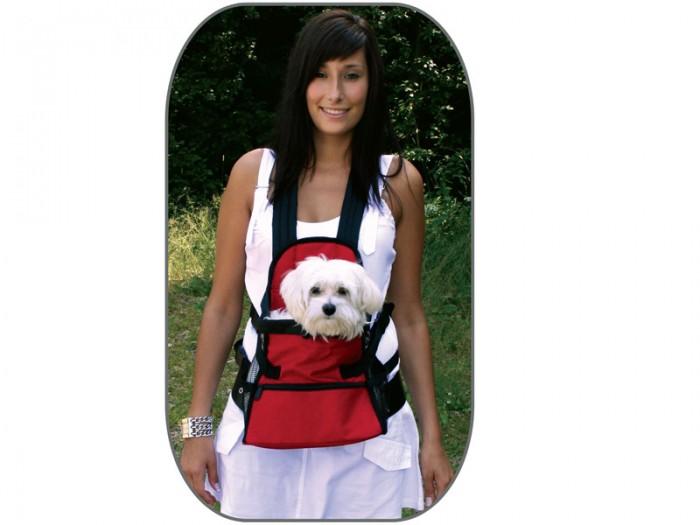 mochila para perros negra