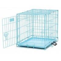 jaula para perros azul