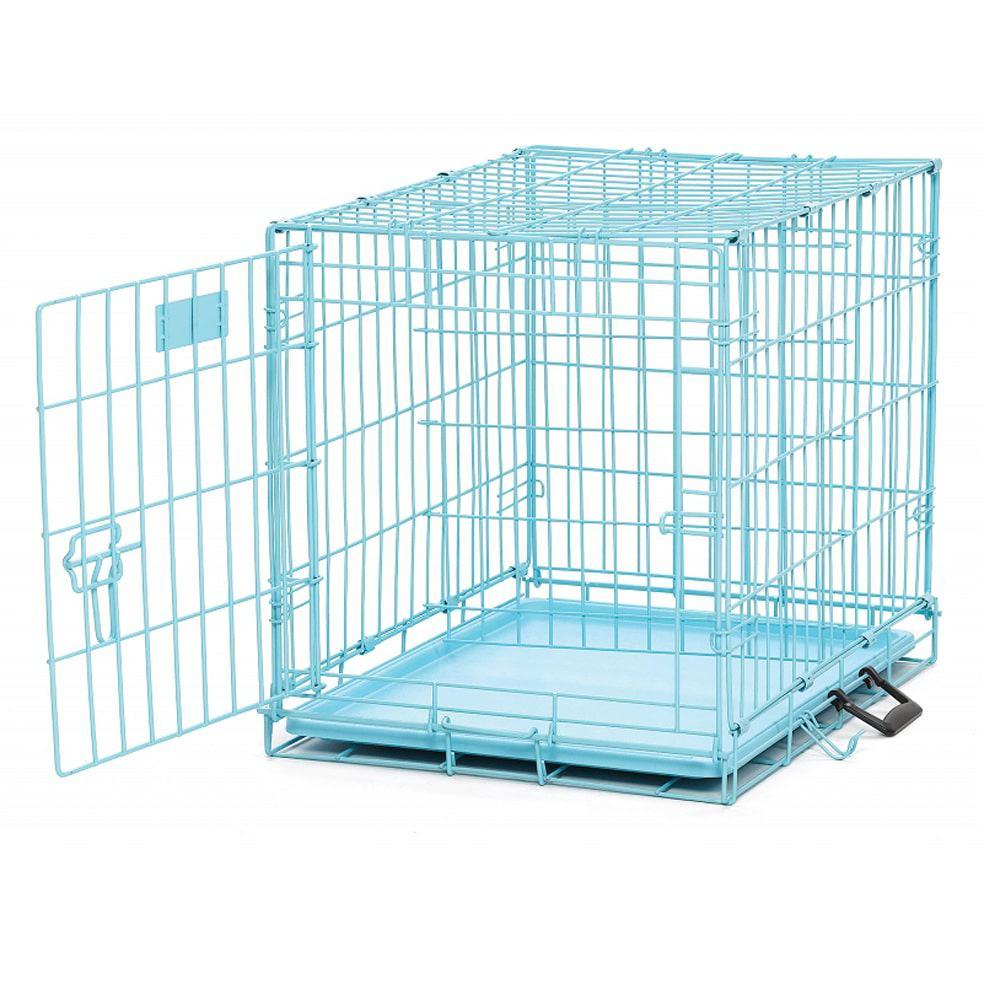 Jaula para perros azul de transporte el armario de sugar for Jaulas de perros