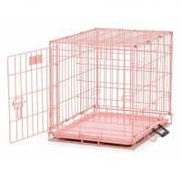 jaula para perros rosa