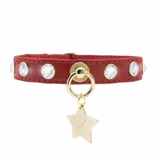 collar crystals rojo funkylicious